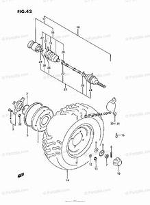 Suzuki Atv 1991 Oem Parts Diagram For Front Wheel  Model M