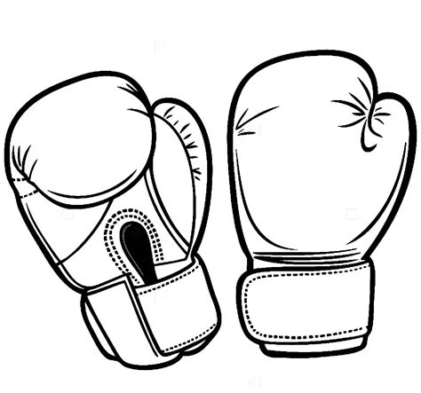 Bokshandschoenen Kleurplaat by Boxing Gloves Sport Competition Fight Fighter Boxer Punch Ring