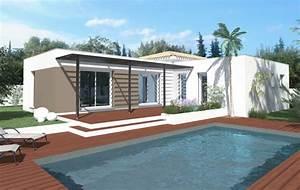 toit d39azur constructeur choisirmonconstructeurcom With maison toit plat en l 17 le pool house de piscine