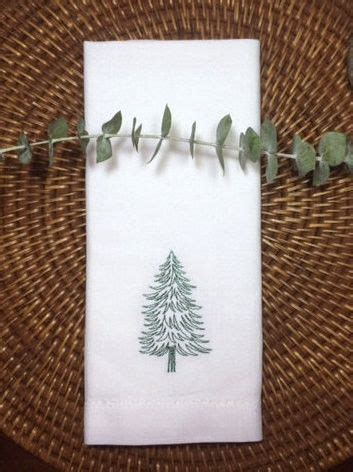 Magicforest Tree Sewing Set woodland tree embroidered cloth napkins set of