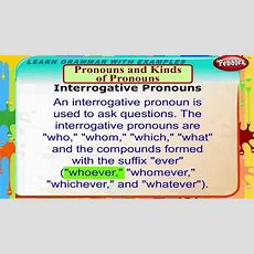 Pronouns And Kinds Of Pronouns  English Grammar Lessons For Beginners  English Grammar For