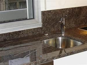 Plan De Travail Granit : plan travail cuisine granit maison design ~ Dailycaller-alerts.com Idées de Décoration
