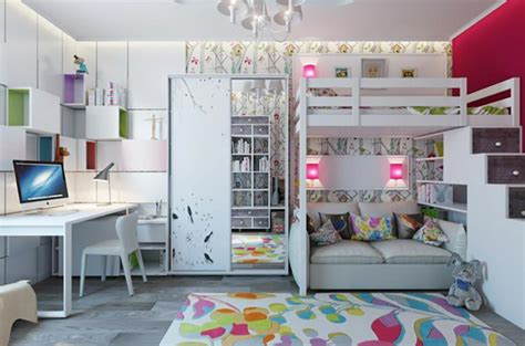 chambre pour deux enfants aménagement chambre d enfant dans un appartement design