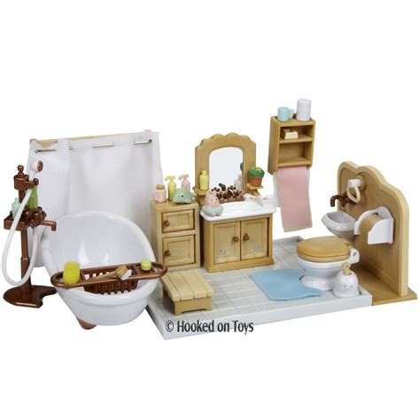 calico critters bathroom set calico critters deluxe bathroom furniture set cc2480 ebay