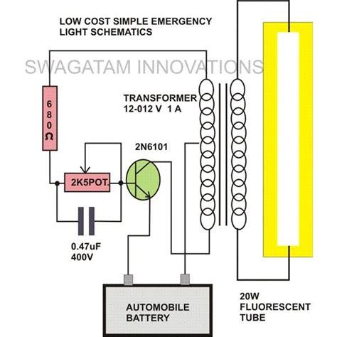 Watt Tubelight Emergency Light Circuit Diagram