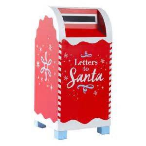 home accents holiday red letters to santa mailbox o1215 With home depot mailbox letters