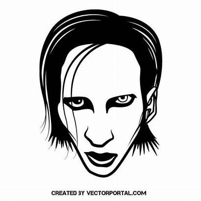 Manson Marilyn Vector Celebrity Musician Drawing Vectorportal