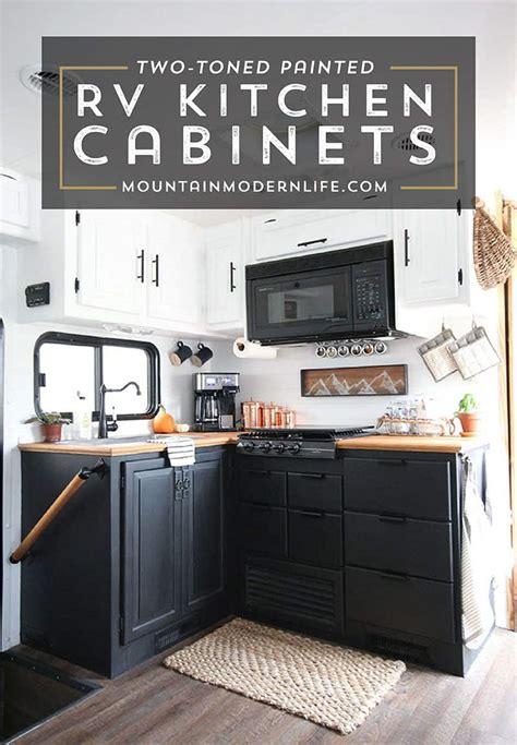 paint  rv kitchen cabinets      mountainmodernlifecom