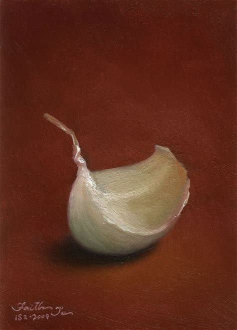 clove garlic a clove of garlic series no 1 aceo paintings