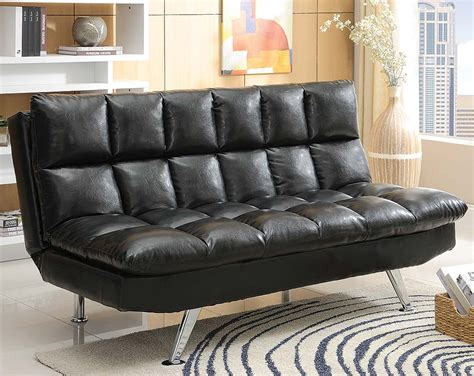 american freight sofa beds black plush leather like sofa bed sundown futon