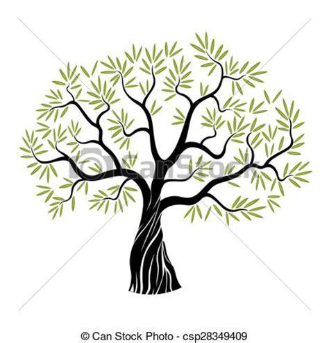 albero clipart oliva vettore albero colorare albero vettore verde