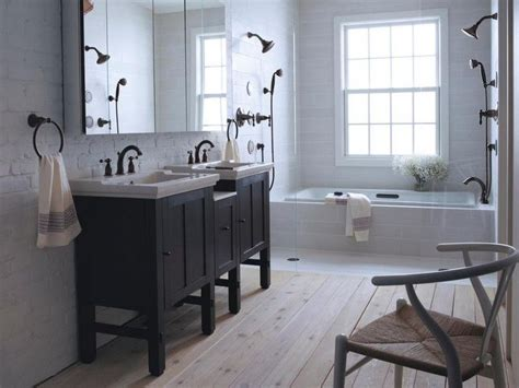 Grey Bathroom Fixtures by Bathroom Ideas With Rubbed Bronze Fixtures Bathroom