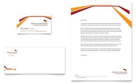 software developer business card letterhead template design