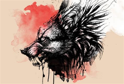 abstract wolf paper print abstract posters  india