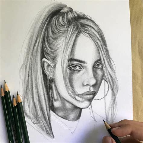 Eilish Billie Drawing Art