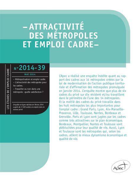 site emploi cadre 28 images etude apec attractivit 233