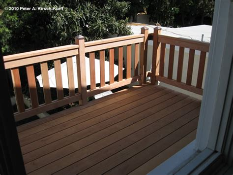 craftsman second story wood deck porch railing west