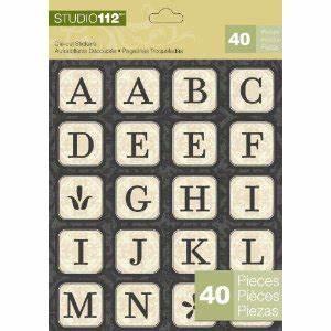 studio 112 die cut stickers alphabet With die cut letter stickers