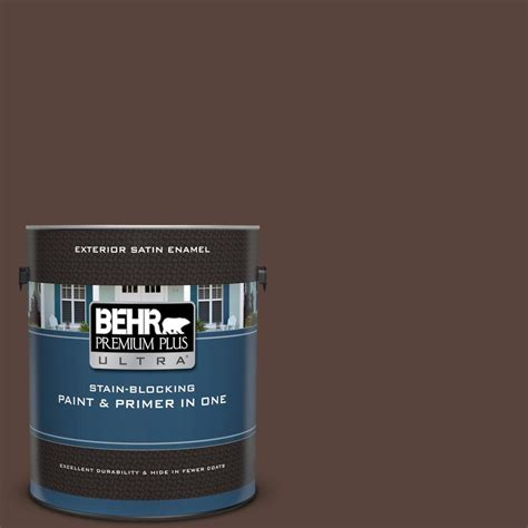behr premium plus ultra 1 gal s g 790 rug satin enamel exterior paint and primer in one