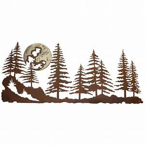 pine forest burnished metal wall art With kitchen colors with white cabinets with pine tree metal wall art