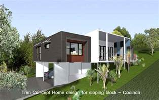 photo of sloping block designs ideas house plans for sloping nz house design ideas