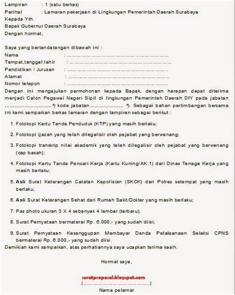 Surat Lamaran Cpns Kemensos 2017 by Contoh Surat Lamaran Cpns Guru Terbaru 2018 Kumpulan