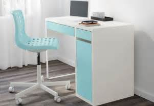 ikea computer desk workstation white micke home design ideas