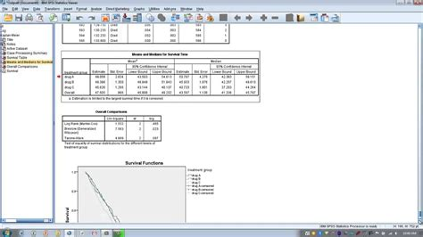 How To Use Spss Kaplan Meier Survival Curve Youtube