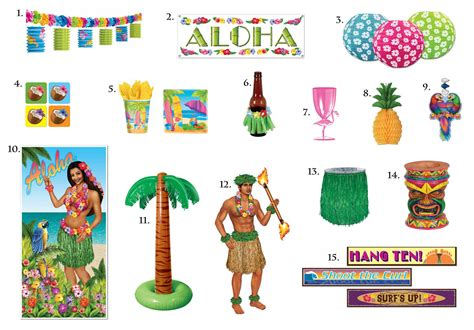 hawaiian luau party theme