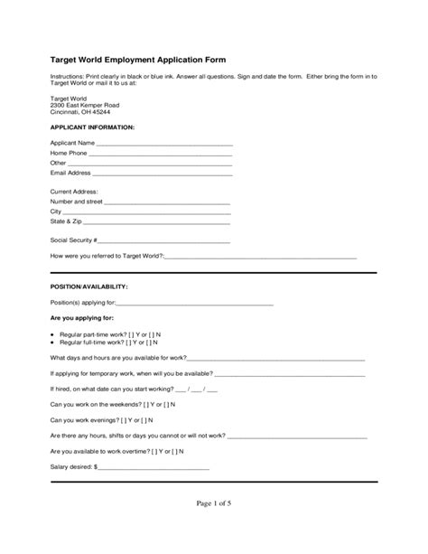 resume my target application target world employment application form free