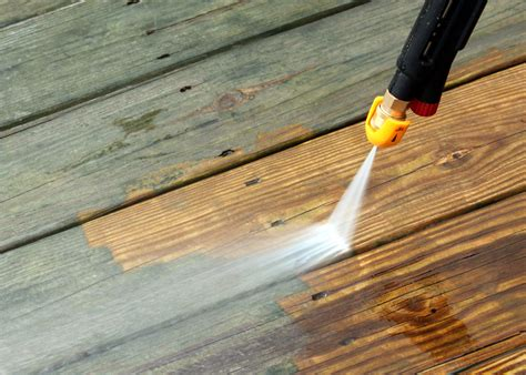 do you need to power wash your deck before staining s k