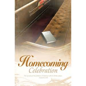 Church Homecoming Celebration Bulletin Covers
