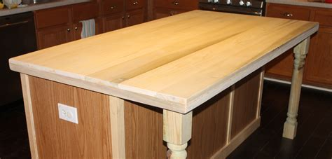 kitchen island with wood top remodelaholic how to create faux reclaimed wood countertops