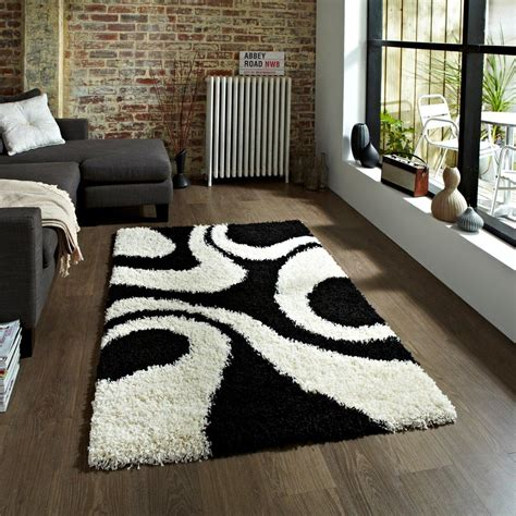 black and white rug black and white shag rug best decor things