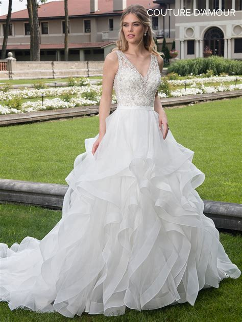 Couture Damour Bridal Dresses   Style - MB4006 in Ivory or ...