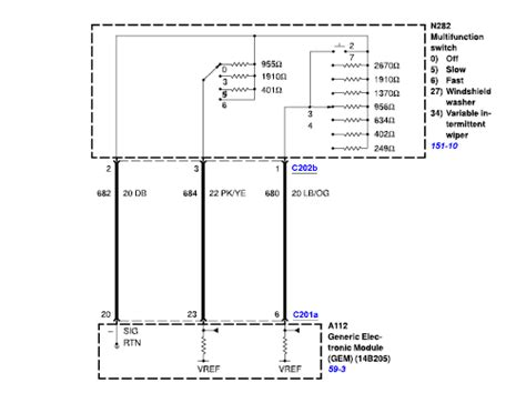 Ford F 350 Windshield Wiper Motor Wiring Diagram by Need A Wiper Motors And Switch Wiring Diagram For A 03