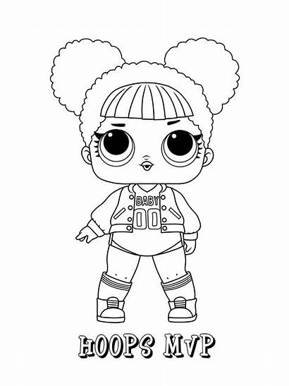 Lol Coloring Pages Dolls Hoops Surprise Doll