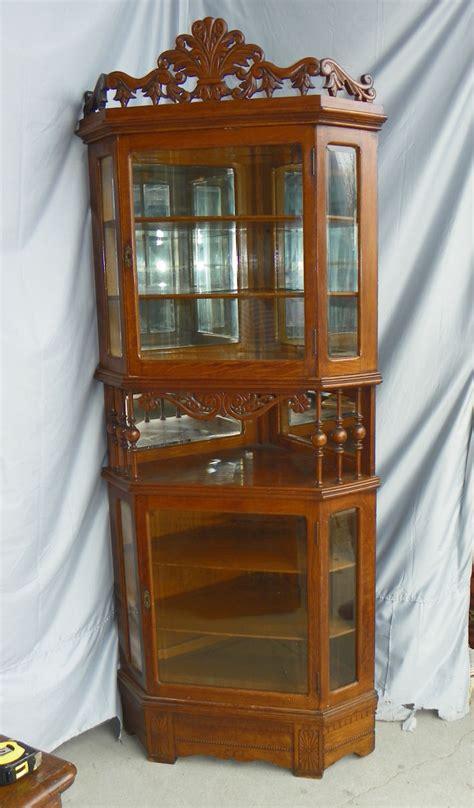 antique corner curio cabinet bargain s antiques 187 archive antique oak corner