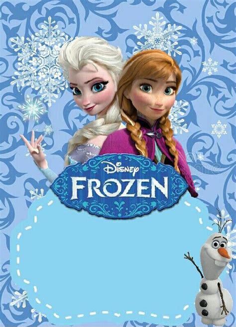 Tarjeta de invitación de Frozen para editar