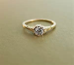 vintage gold engagement rings antique engagement ring 15k yellow gold and