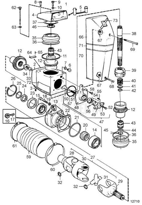 volvo penta exploded view schematic gear unit dp d1 1 68 dp d1 1 78 dp d1 1 95 dp d1