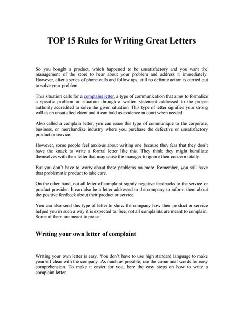 10 How To Write A Letter Of Complaint | Proposal Sample