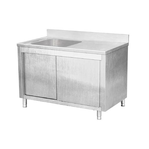 stainless steel work table with sink eq commercial stainless steel work table cabinet sliding