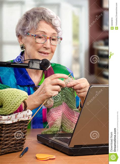 learning knit   year  stock photo image