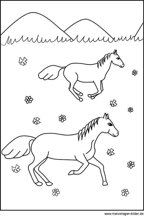 pferde ausmalbilder fuer kinder zum ausdrucken