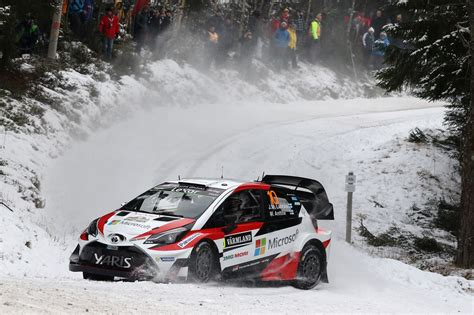 toyota secures  wrc win   carscoops