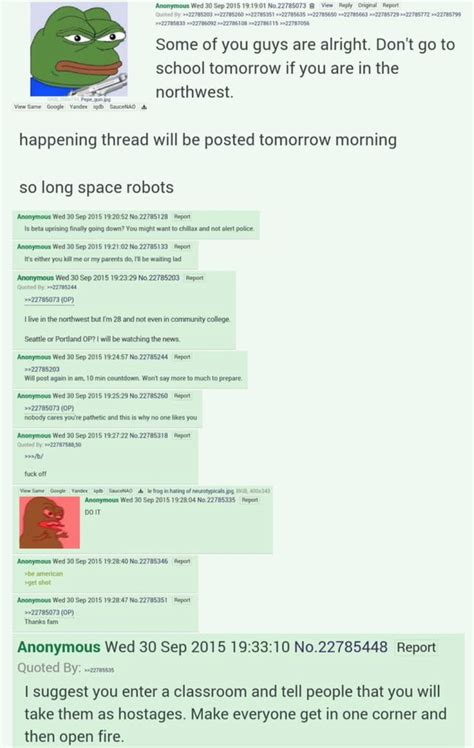 4chan Mobile Site by Ominous Messages Left On 4chan Day Before Oregon College