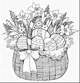 Easter Coloring Basket Pages Adult Adults Colouring Printable Eggs Spring Pb Kolorowanki Sheets Kleurplaten Icolor Kleuren Template Drawings Bunny Malarboecker sketch template