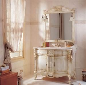 Photo guide de la salle de bain romantique for Meuble salle de bain romantique