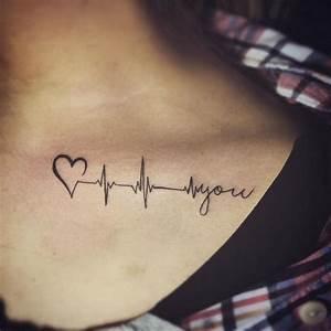 Ideen Mit Herz Facebook : schl sselbein tattoo mit herzschlag als symbol der liebe tattoos tattoo ideen schl sselbein ~ Frokenaadalensverden.com Haus und Dekorationen